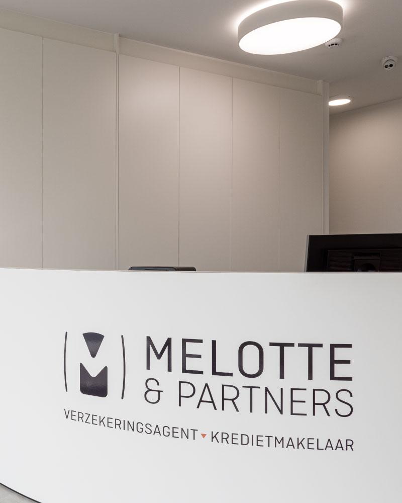 Melotte & Partners ontvangstruimte